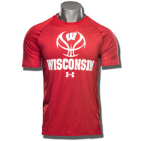 Under Armour Wisconsin Basketball Tech Tee (Red)