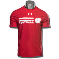 Under Armour UW Football Charged Cotton Tee (Red) 3X