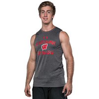 Under Armour Badgers Sleeveless Tech Tee (Gray)