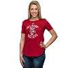Under Armour Women's Bucky Badger 60/40 Crew Tee (Red)