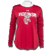 Under Armour Women's Bucky Badger 60/40 Long Sleeve (Red)