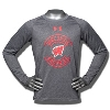 Under Armour Youth WI Badgers Long Sleeve Tech Tee (Gray)