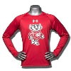 Under Armour Youth WI Badgers Long Sleeve Tech Tee (Red)