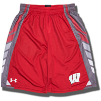 Under Armour Youth Wisconsin Badgers Select Shorts (Red)