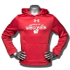 Under Armour Youth University of WI Fleece Hoodie (Red) *