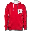 G-III Hands High Wisconsin Full Zip Sweatshirt (Red/White) *