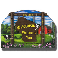 Gift Pro Inc. Wisconsin Welcome Sign Magnet