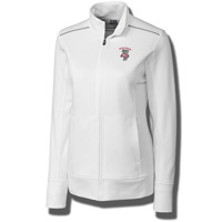 Cutter & Buck Women's Bucky Badger Full Zip Jacket (White)