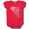 College Kids Infant Bucky Badger Onesie (Red)