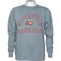 Alta Gracia Wisconsin Badgers Crew Neck Sweatshirt (Gray)