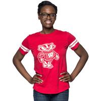 League Women's Bucky Badger T-Shirt (Red)