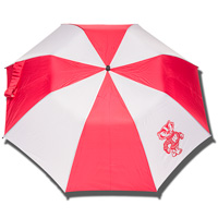 Storm Duds Bucky Badger Big Storm Umbrella (Red/White)