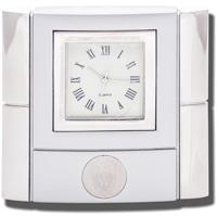 CSI Wisconsin Bonaventure Desk Clock (Silver)