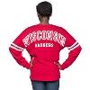 Boxercraft Women's Wisconsin V-Neck Pom Pom LongSleeve (Red) thumbnail