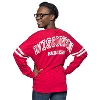 Boxercraft Women's Wisconsin V-Neck Pom Pom LongSleeve (Red) thumbnail