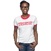 League Women's Wisconsin Badgers Ringer T-Shirt (White/Red)