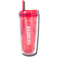 Geo Wisconsin Badgers Acrylic Tumbler (Red)*
