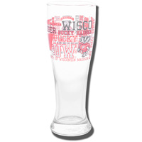 Boelter Brands Wisconsin Badgers Pilsner Glass