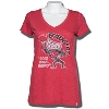 '47 Brand Women's Bucky Badger V-Neck T-Shirt (Vintage Red)