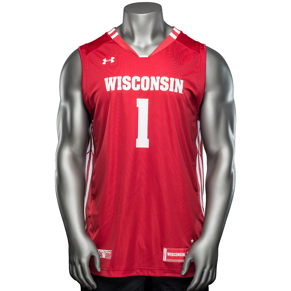 Under Armour WI Replica Basketball Jersey  1 (Red)   thumbnail ... fa7ff9610