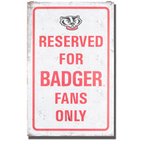 Legacy Bucky Badger Large Tin Sign *