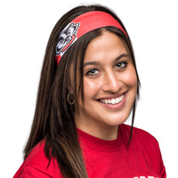 Legacy Bucky Badger Block Colored Headband (Red/White)