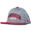 Under Armour Youth Wisconsin Mesh Snapback Hat (Gray/Red) *