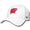 Under Armour Wisconsin Renegade Stretch Fit Hat (White) *