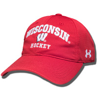 Under Armour Wisconsin Hockey Adjustable Hat (Red) *