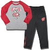 Under Armour Toddler Bucky Badger Pant Set (Gray/Red)