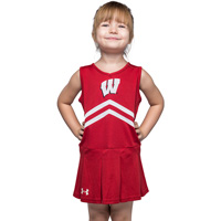 Under Armour Girl's Bucky Badger Cheer Dress (Red)