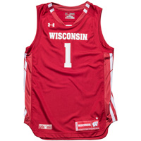 Under Armour Youth WI Replica Basketball Jersey #1 (Red) *