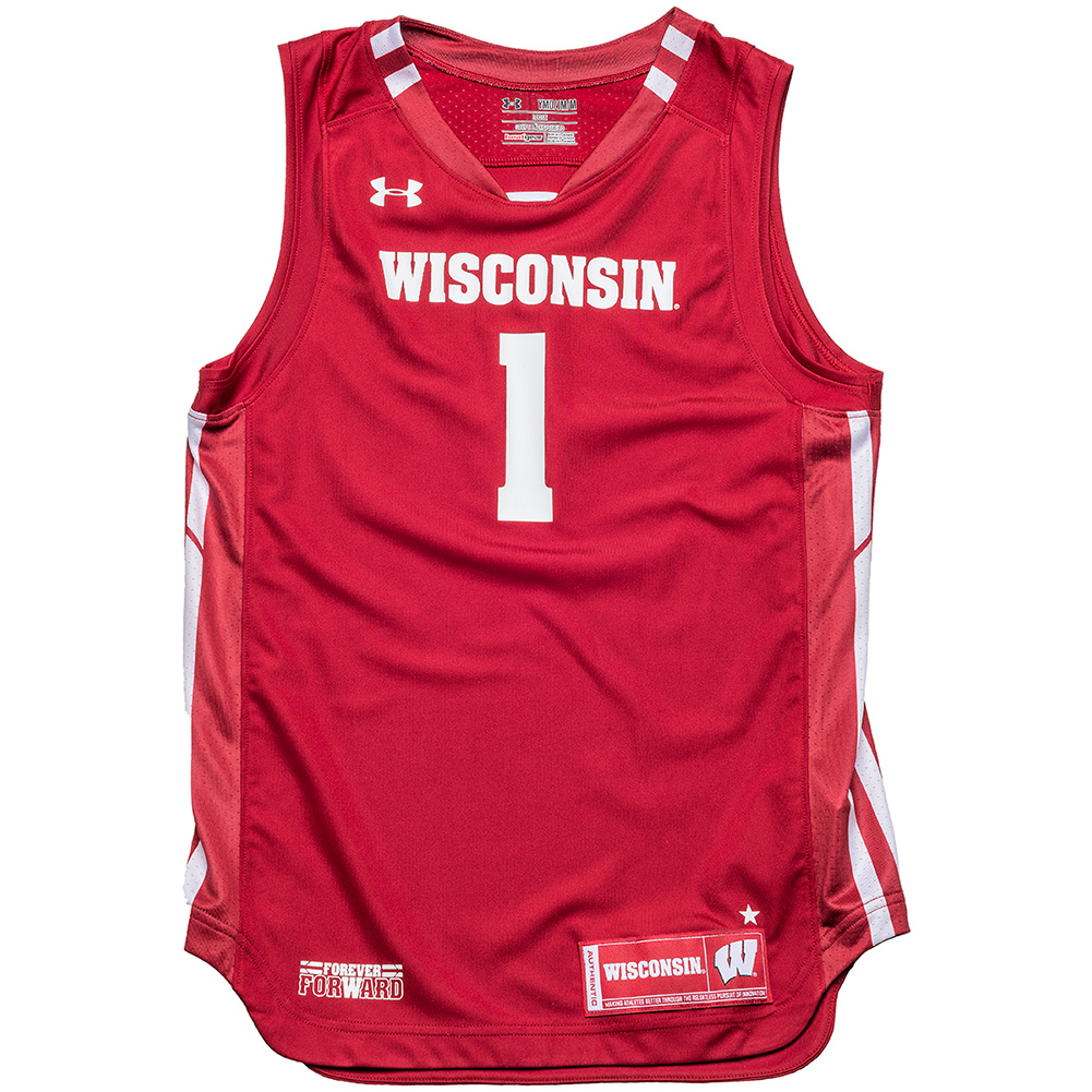 1f99d72f1 Under Armour Youth WI Replica Basketball Jersey  1 (Red)   thumbnail ...