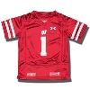 Under Armour Toddler WI Replica Football Jersey #1 (Red)