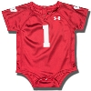 Under Armour Infant Wisconsin Football Jersey Onesie (Red)