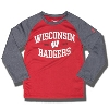 Under Armour Child Wisconsin Badgers Long Sleeve (Red/Char)
