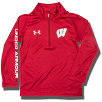 Under Armour Child University of Wisconsin ¼ Zip (Red) *