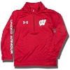 Under Armour Child University of Wisconsin ¼ Zip (Red)
