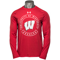 Under Armour UW Badgers Charged Cotton Long Sleeve (Red)*