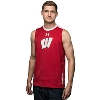 Under Armour Wisconsin Charged Cotton Tank (Red/White)