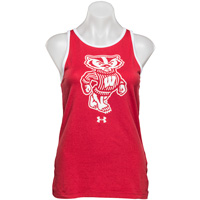 Under Armour Women's Bucky Badger Tank Top (Red/White)*
