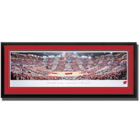 Blakeway Panorama UW Red and White Game Deluxe Framed Poster