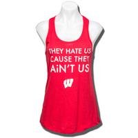 ZooZatz Women's Ain't Us Wisconsin Tank Top (Red) *