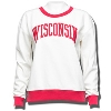 League Women's Wisconsin Crew Neck Sweatshirt (Cream/Red)*