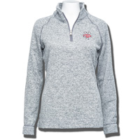 Champion Women's Bucky Badger Fleece ¼ Zip Sweater (Gray)