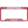 LXG Inc. Wisconsin Parent License Plate Frame (Red)