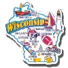 Gift Pro Inc. Wisconsin State Magnet