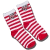 For Bare Feet Children's Bucky Badger Striped Socks (R/W)