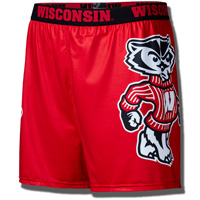 Fandemic Men's Bucky Badger Boxer Brief (Red)
