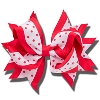 Card Emporium Red and White Clip Hair Bow